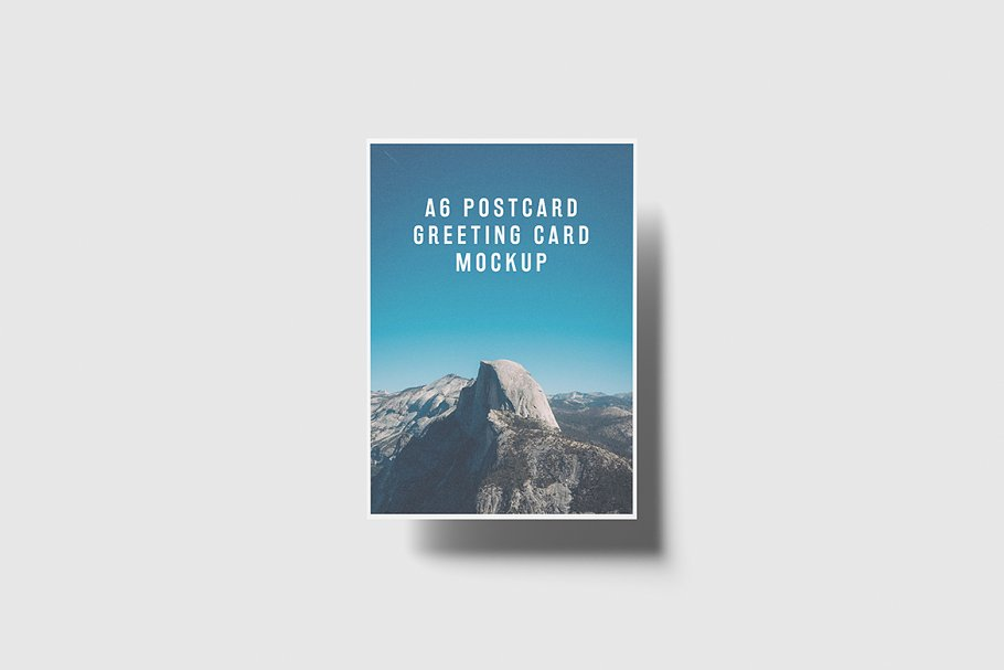 A6 Portrait Postcard, Flyer Mockup