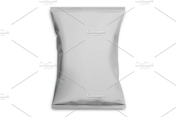 Gray realistic Polyethylene bag