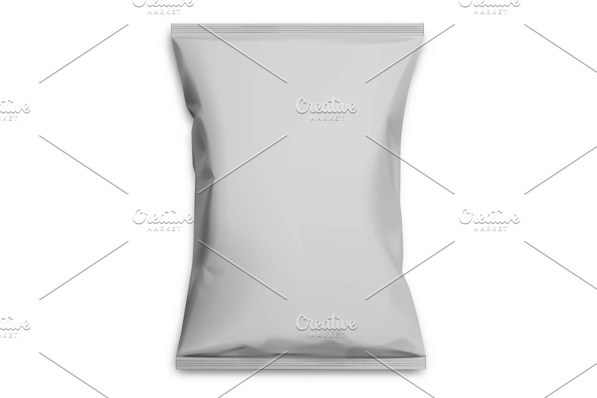 Gray realistic Polyethylene bag