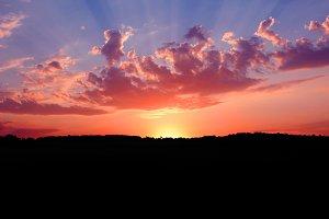 Sunrise, Dawn of Light over Serbia