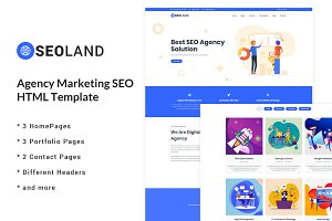 SEOLand Marketing SEO HTML Template