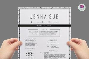 Modern , chic CV template