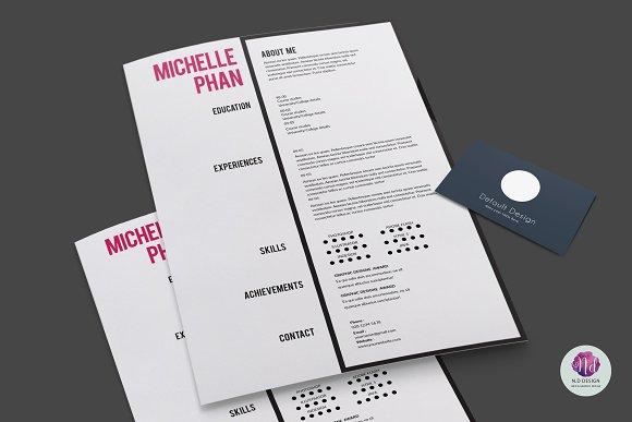 modern cv template resume templates creative market