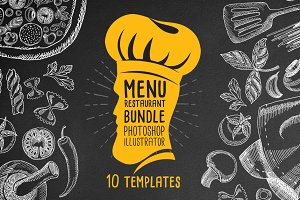 Menu restaurant Bundle 10 Templates