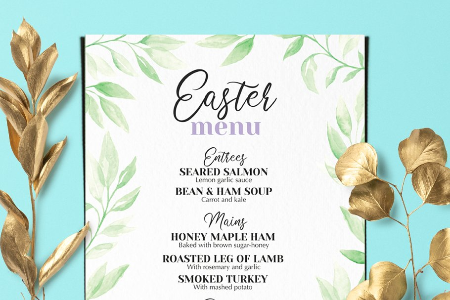 Easter Brunch Menu