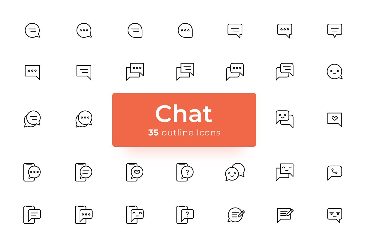 Chat - Icons Pack