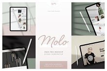 Molo - iPad Pro Scene Creator by  in Product Mockups