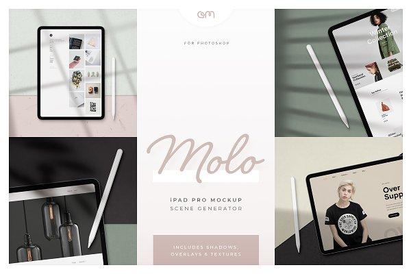 Product Mockups: AM Studio - Molo - iPad Pro Scene Creator