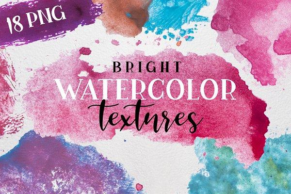 Bright Watercolor Textures