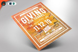 Giving Thanks Holiday Flyer
