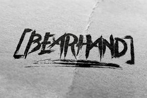 BearHand Typeface + Graphic Pack