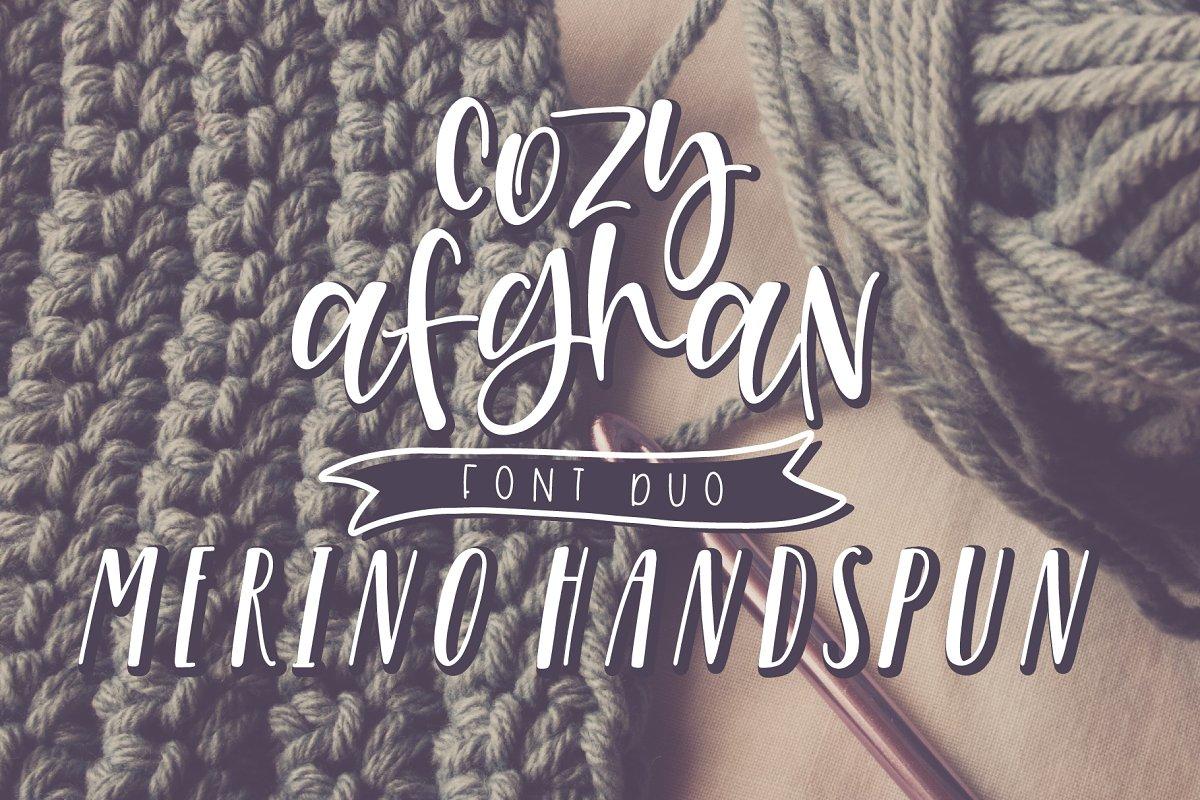 The Cozy Merino Font Duo