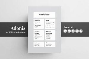 Resume/CV - Adonis