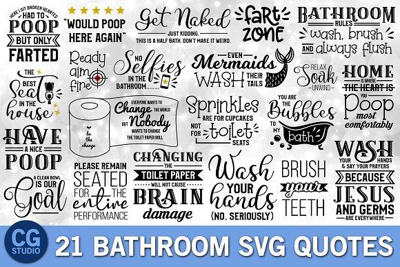 Bathroom Quotes SVG Bundle