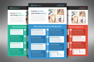 Flat Design Web Design Agency Flyer