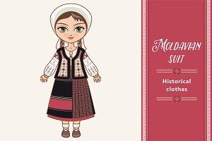 The girl in Moldavian dress