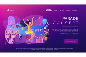 Parade concept landing page.