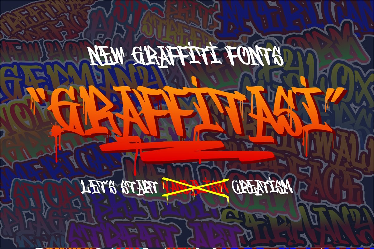 GRAFFITASI in Blackletter Fonts - product preview 8