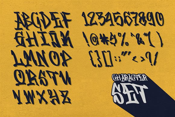 GRAFFITASI in Blackletter Fonts - product preview 3