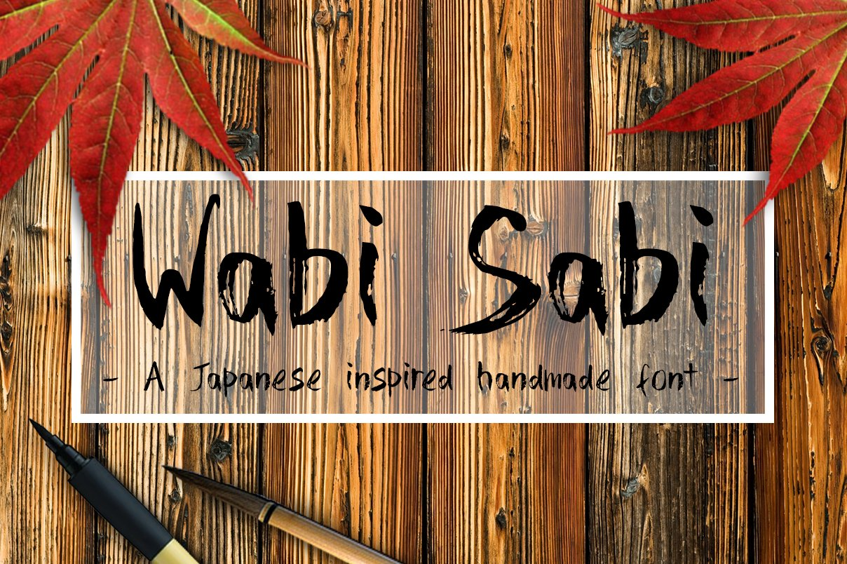 wabi sabi handmade font script fonts creative market. Black Bedroom Furniture Sets. Home Design Ideas