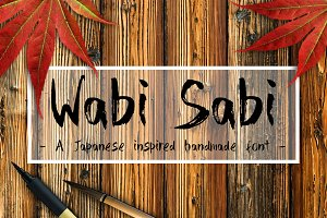 Wabi Sabi Handmade Font