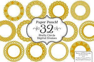 Mustard Vector Lace Frames
