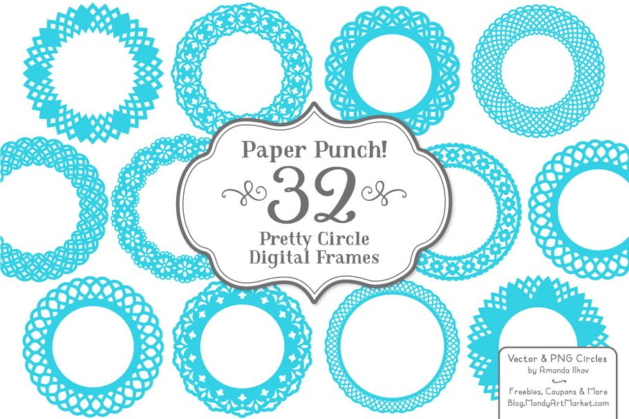 Bright Blue Lace Frames