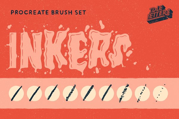 Add-Ons: Idle Letters - Inkers Procreate Brush Set