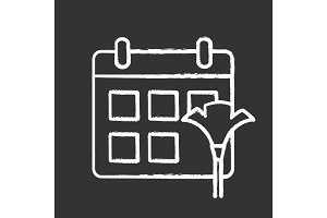 Cleaning schedule chalk icon