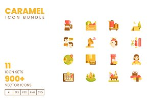 900+ Vector Icons Caramel Bundle