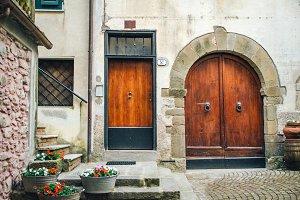 Brown Doors of Italian Homes