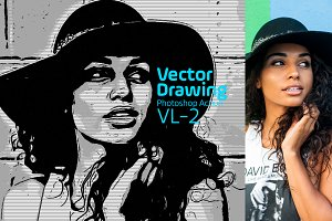 Vector Drawing Photoshop Action