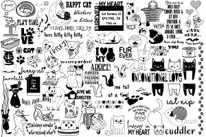 Cat Doodles VECTOR AI EPS PNG
