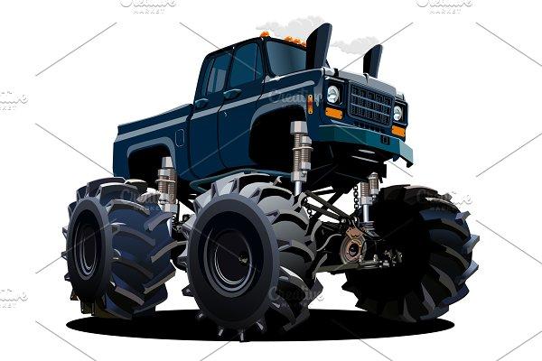 Cartoon Monster Truck isolated on