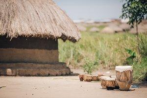Village Scene in Uganda, Africa