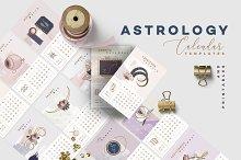 Astrology Calendar Templates