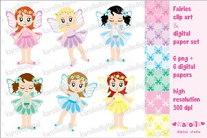 Fairies - clip art set