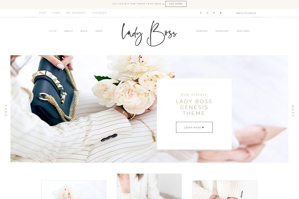 Themes: Adalaine Design - Lady Boss-Wordpress Genesis Theme
