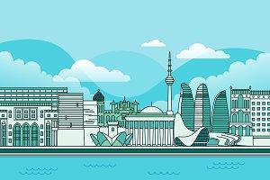 Baku City Skyline