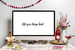 Champagne & Cupcakes iMac Mockup #24
