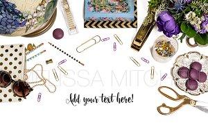 Purple Styled Desktop Mockup #30