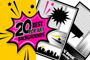 20 Vertical Comic Book background ~ Illustrations ~ Creative