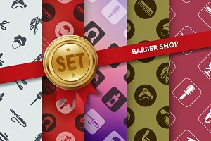 Set of barber shop icons