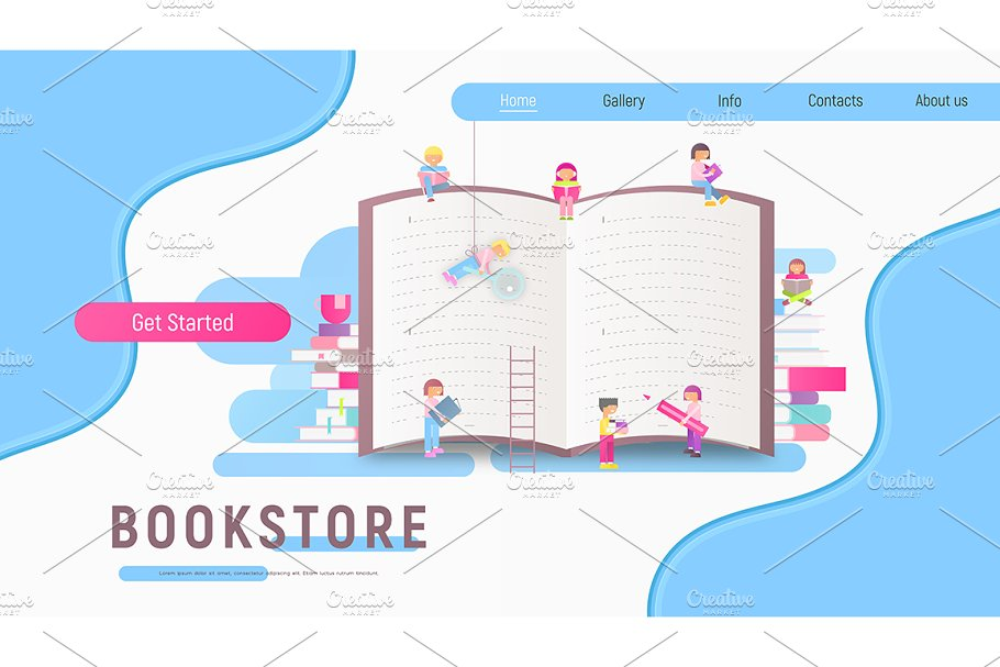 Landing Page for Bookstore