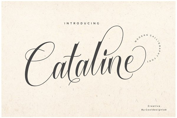 Script Fonts: cooldesignlab - Cataline Script