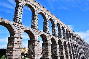 Aqueduct in Segovia.