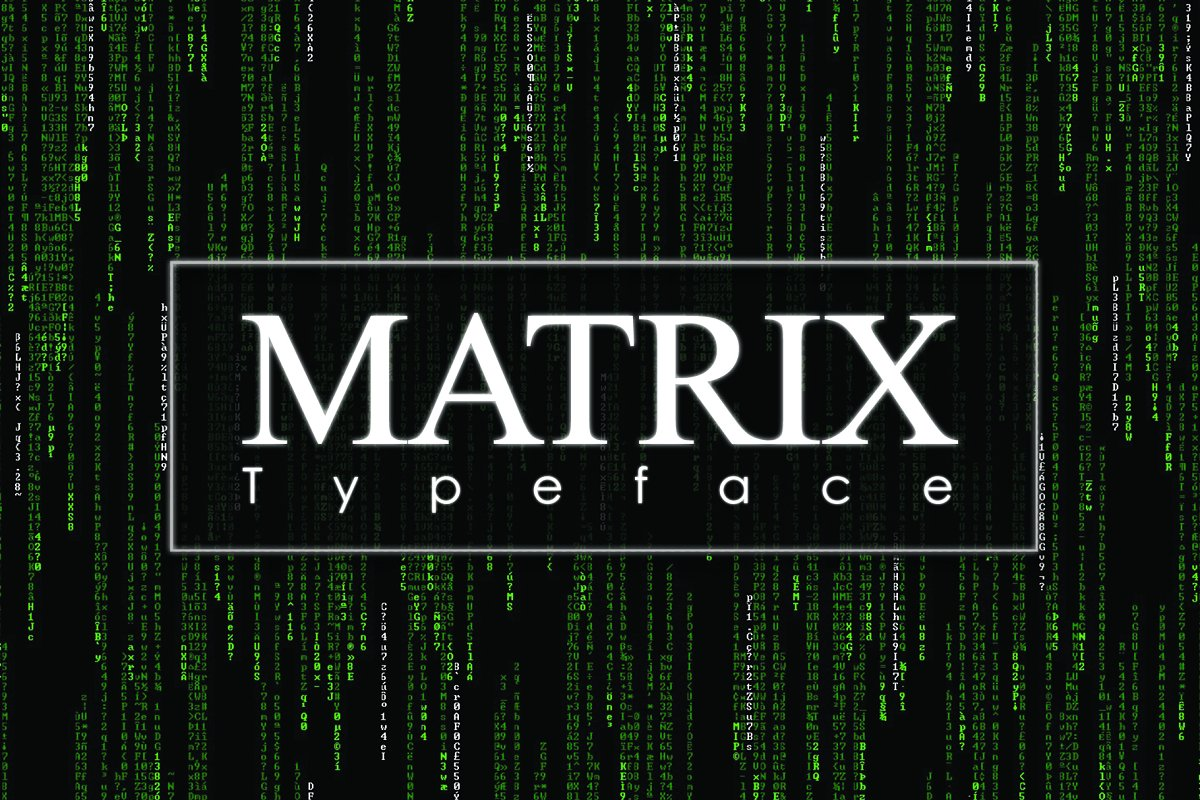 MATRIX Symbols Typeface