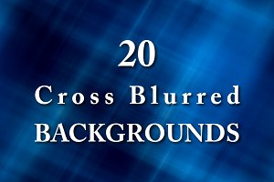 20 cross blurred backgrounds