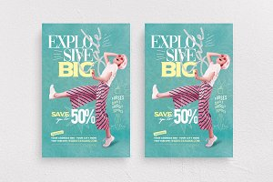 Explosive Big Sale Flyer Template
