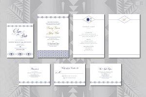 Pendleton Wedding Invitation Suite